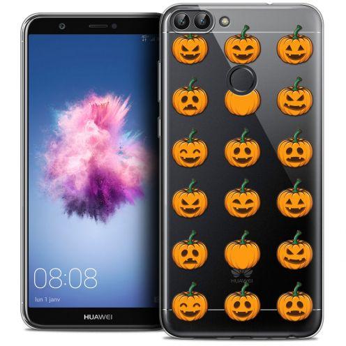 "Carcasa Crystal Gel Extra Fina Huawei P Smart (5.7"") Halloween Smiley Citrouille"