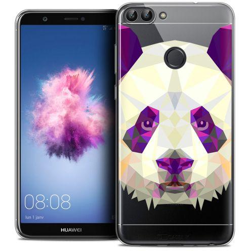 "Carcasa Crystal Gel Extra Fina Huawei P Smart (5.7"") Polygon Animals Panda"