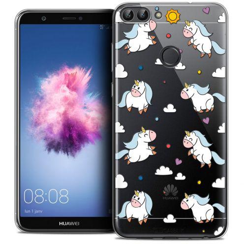"Carcasa Crystal Gel Extra Fina Huawei P Smart (5.7"") Fantasia Licorne In the Sky"