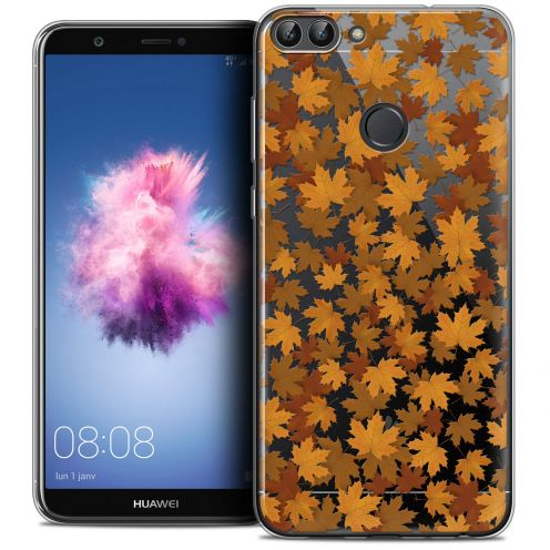 """Carcasa Crystal Gel Extra Fina Huawei P Smart (5.7"""") Autumn 16 Feuilles"""