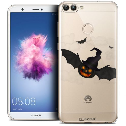 "Carcasa Crystal Gel Extra Fina Huawei P Smart (5.7"") Halloween Chauve Citrouille"