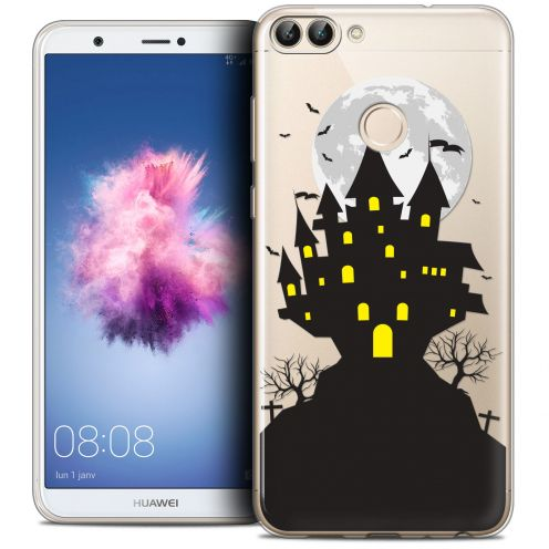 "Carcasa Crystal Gel Extra Fina Huawei P Smart (5.7"") Halloween Castle Scream"