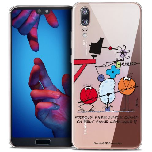 "Carcasa Crystal Gel Extra Fina Huawei P20 (5.8"") Les Shadoks® Pourquoi faire Simple"