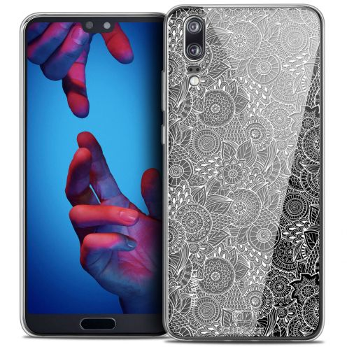 "Carcasa Crystal Gel Extra Fina Huawei P20 (5.8"") Dentelle Florale Blanc"