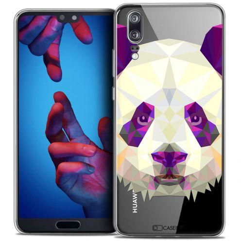 "Carcasa Crystal Gel Extra Fina Huawei P20 (5.8"") Polygon Animals Panda"
