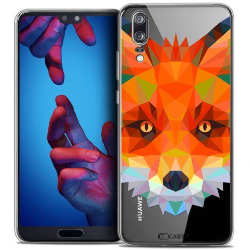"Carcasa Crystal Gel Extra Fina Huawei P20 (5.8"") Polygon Animals Zorro"