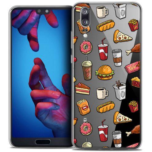 """Carcasa Crystal Gel Extra Fina Huawei P20 (5.8"""") Foodie Fast Food"""