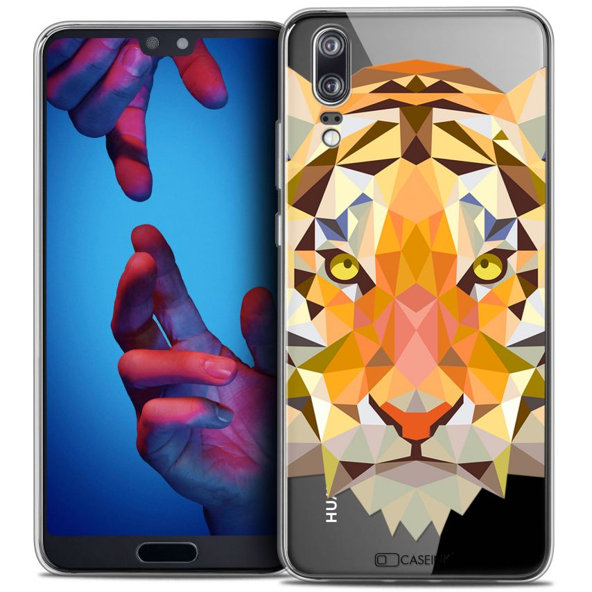 "Carcasa Crystal Gel Extra Fina Huawei P20 (5.8"") Polygon Animals Tigre"