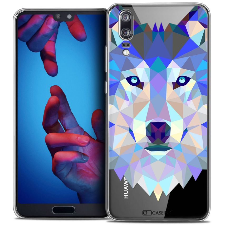 "Carcasa Crystal Gel Extra Fina Huawei P20 (5.8"") Polygon Animals Lobo"