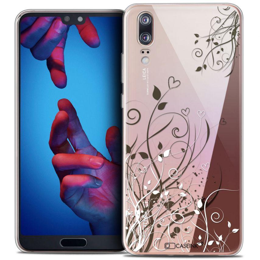 "Carcasa Crystal Gel Extra Fina Huawei P20 (5.8"") Love Hearts Flowers"