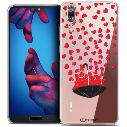 "Carcasa Crystal Gel Extra Fina Huawei P20 (5.8"") Love Parapluie d'Amour"