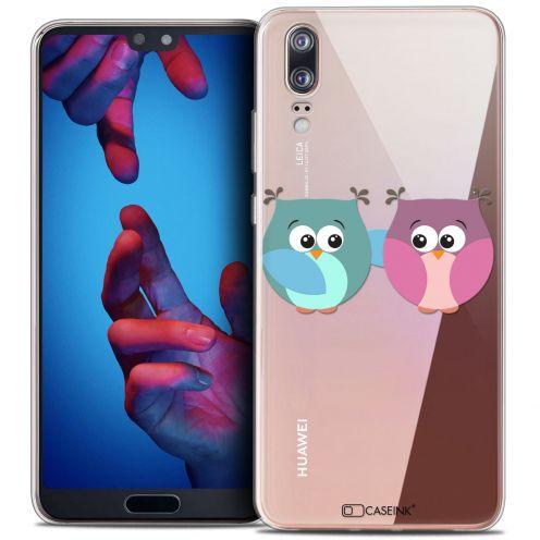 "Carcasa Crystal Gel Extra Fina Huawei P20 (5.8"") Love Hibous à deux"