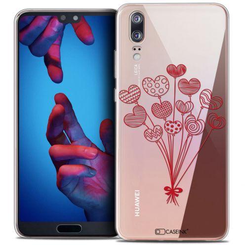 "Carcasa Crystal Gel Extra Fina Huawei P20 (5.8"") Love Ballons d'amour"