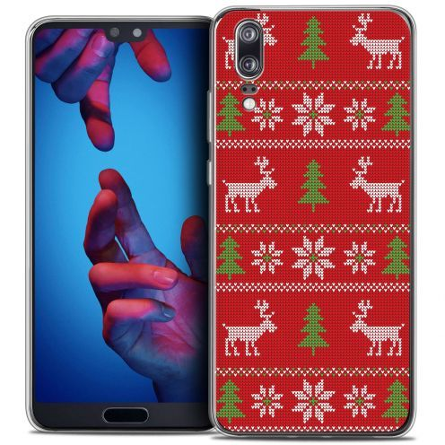 """Carcasa Crystal Gel Extra Fina Huawei P20 (5.8"""") Noël 2017 Couture Rouge"""