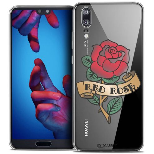 "Carcasa Crystal Gel Extra Fina Huawei P20 (5.8"") Tatoo Lover Red Rose"
