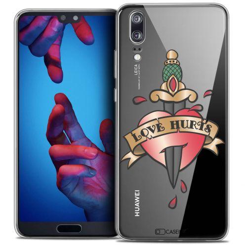 "Carcasa Crystal Gel Extra Fina Huawei P20 (5.8"") Tatoo Lover Love Hurts"