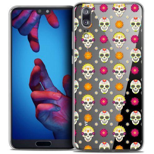 """Carcasa Crystal Gel Extra Fina Huawei P20 (5.8"""") Halloween Skull Halloween"""