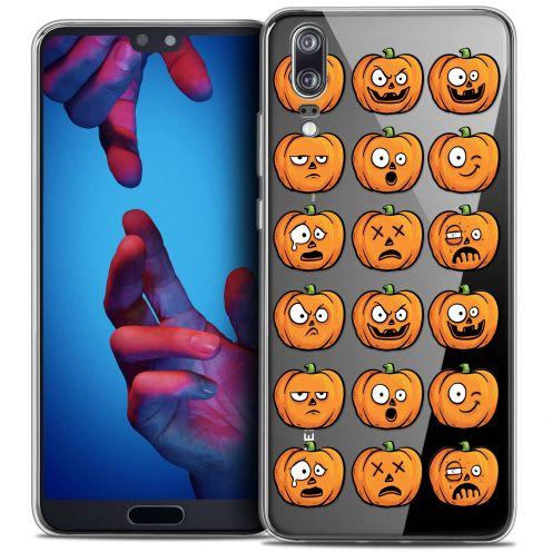 "Carcasa Crystal Gel Extra Fina Huawei P20 (5.8"") Halloween Cartoon Citrouille"