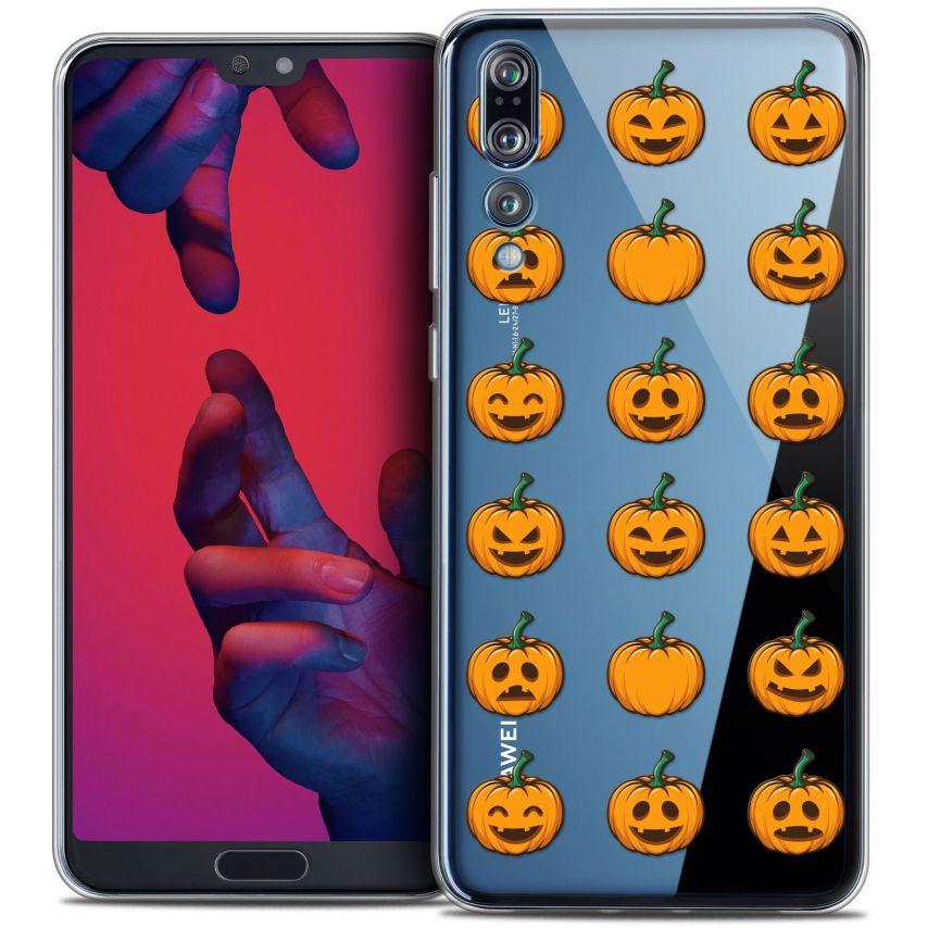 "Carcasa Crystal Gel Extra Fina Huawei P20 PRO (6.1"") Halloween Smiley Citrouille"