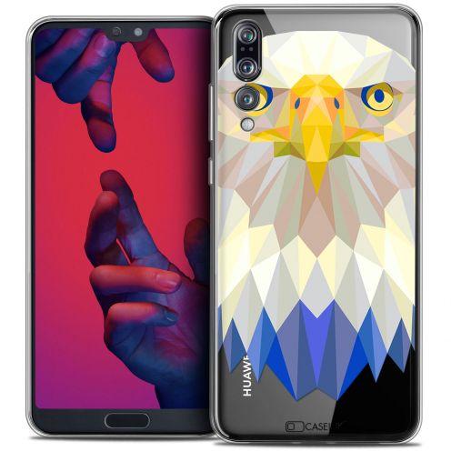 "Carcasa Crystal Gel Extra Fina Huawei P20 PRO (6.1"") Polygon Animals Águila"