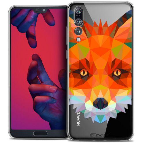 "Carcasa Crystal Gel Extra Fina Huawei P20 PRO (6.1"") Polygon Animals Zorro"