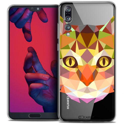 "Carcasa Crystal Gel Extra Fina Huawei P20 PRO (6.1"") Polygon Animals Gato"