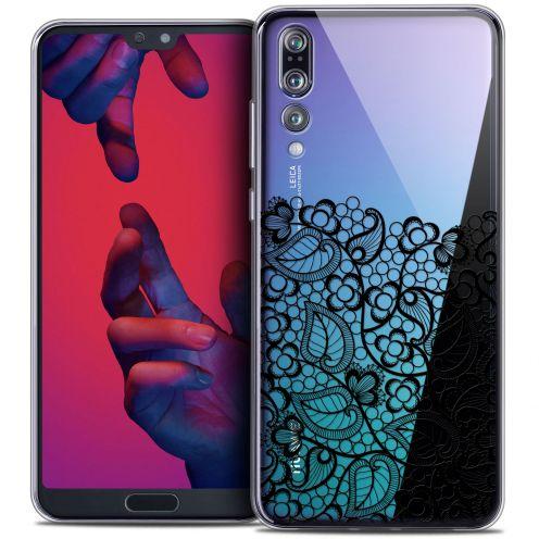 "Carcasa Crystal Gel Extra Fina Huawei P20 PRO (6.1"") Spring Bas dentelle Noir"