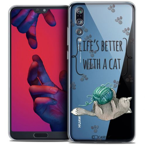 "Carcasa Crystal Gel Extra Fina Huawei P20 PRO (6.1"") Quote Life's Better With a Cat"