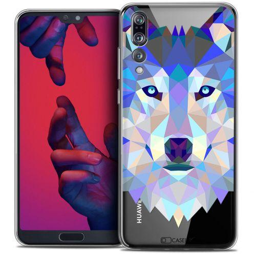 "Carcasa Crystal Gel Extra Fina Huawei P20 PRO (6.1"") Polygon Animals Lobo"