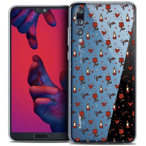 "Carcasa Crystal Gel Extra Fina Huawei P20 PRO (6.1"") Love Bougies et Roses"