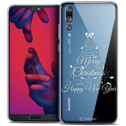"Carcasa Crystal Gel Extra Fina Huawei P20 PRO (6.1"") Noël 2017 Calligraphie"