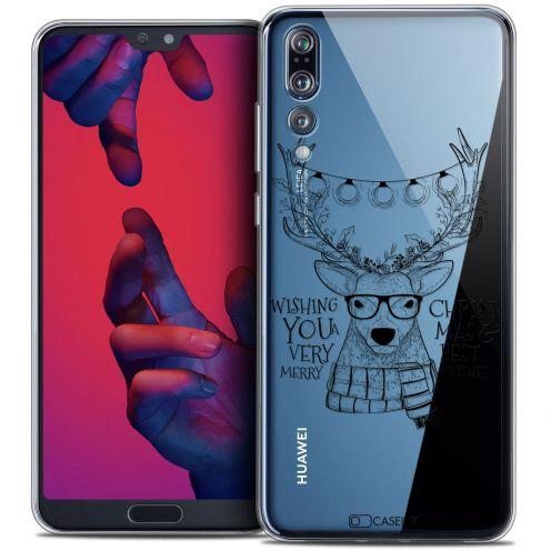 "Carcasa Crystal Gel Extra Fina Huawei P20 PRO (6.1"") Noël 2017 Cerf Hipster"