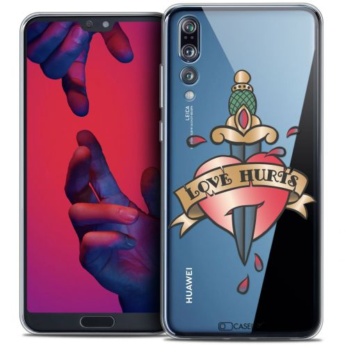 "Carcasa Crystal Gel Extra Fina Huawei P20 PRO (6.1"") Tatoo Lover Love Hurts"