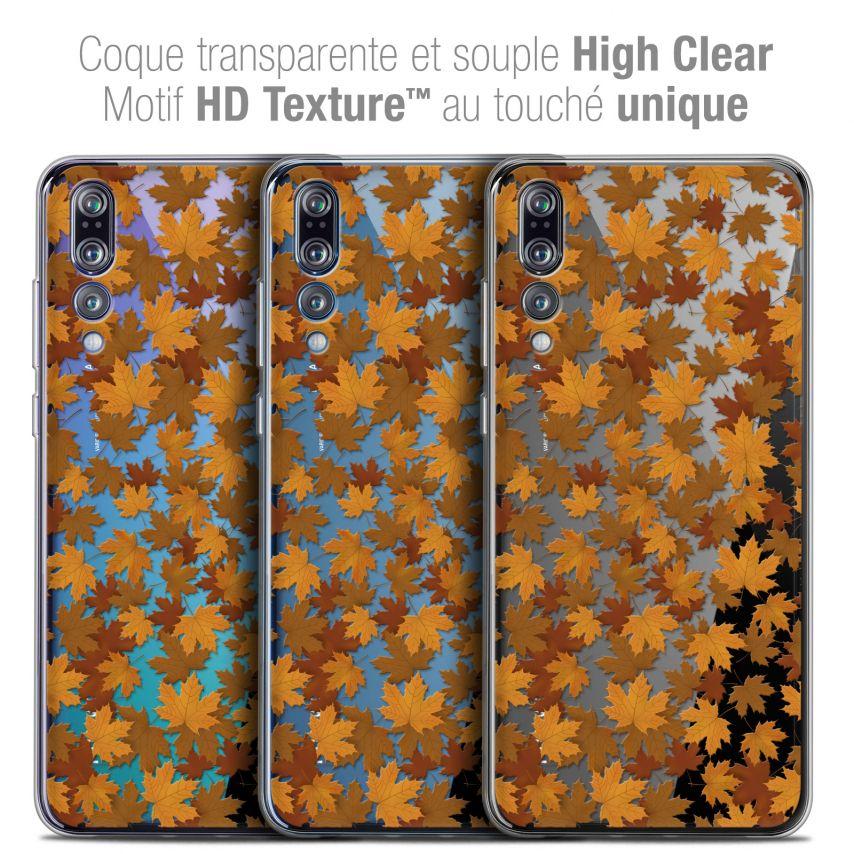 """Carcasa Crystal Gel Extra Fina Huawei P20 PRO (6.1"""") Autumn 16 Feuilles"""
