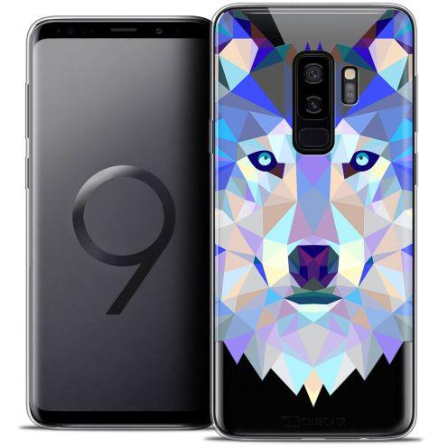 "Carcasa Crystal Gel Extra Fina Samsung Galaxy S9+ (6.2"") Polygon Animals Lobo"