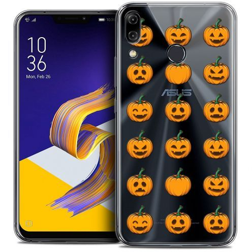 "Carcasa Crystal Gel Extra Fina Asus Zenfone 5z ZS620KL (6.2"") Halloween Smiley Citrouille"