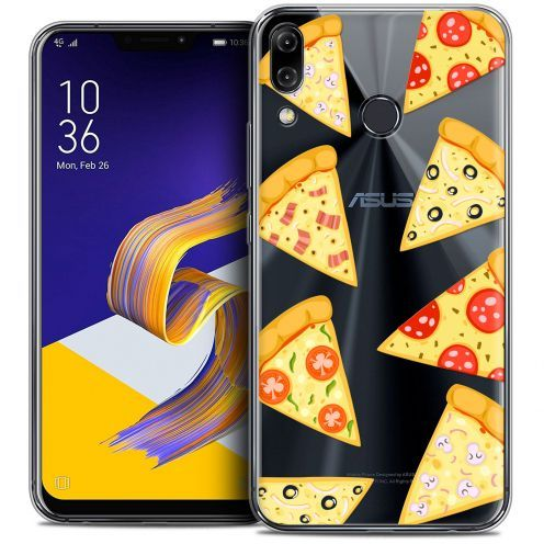 "Carcasa Crystal Gel Extra Fina Asus Zenfone 5z ZS620KL (6.2"") Foodie Pizza"