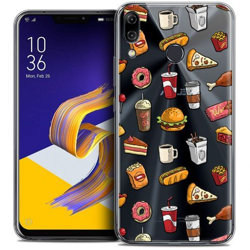 """Carcasa Crystal Gel Extra Fina Asus Zenfone 5z ZS620KL (6.2"""") Foodie Fast Food"""