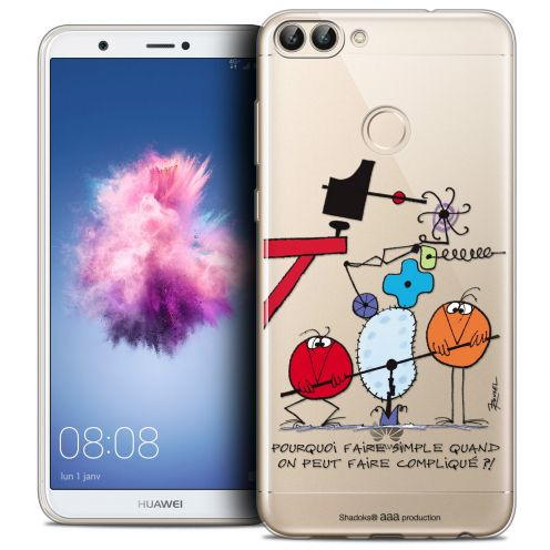 """Carcasa Crystal Gel Extra Fina Huawei P Smart (5.7"""") Les Shadoks® Pourquoi faire Simple"""