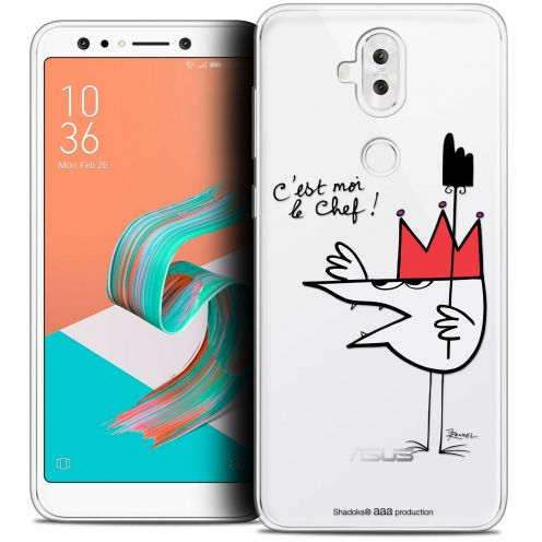 "Carcasa Crystal Gel Extra Fina Asus Zenfone 5 LITE ZC600KL (6.2"") Les Shadoks® Le Chef"