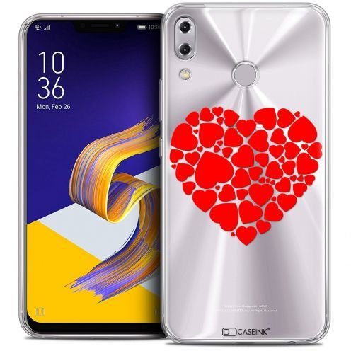 "Carcasa Crystal Gel Extra Fina Asus Zenfone 5z ZS620KL (6.2"") Love Coeur des Coeurs"