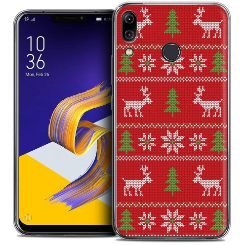 "Carcasa Crystal Gel Extra Fina Asus Zenfone 5z ZS620KL (6.2"") Noël 2017 Couture Rouge"