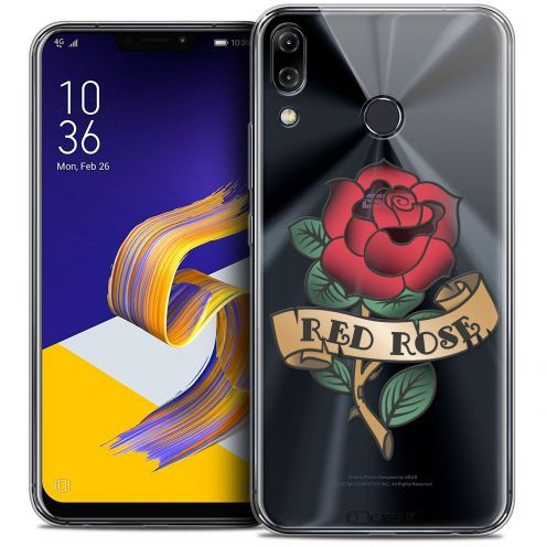 "Carcasa Crystal Gel Extra Fina Asus Zenfone 5z ZS620KL (6.2"") Tatoo Lover Red Rose"