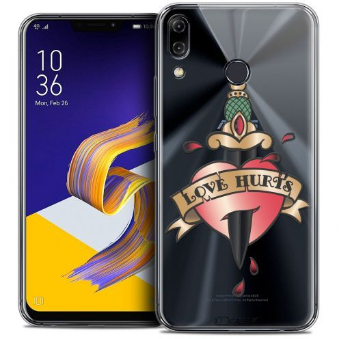 "Carcasa Crystal Gel Extra Fina Asus Zenfone 5z ZS620KL (6.2"") Tatoo Lover Love Hurts"