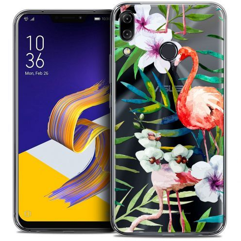 "Carcasa Crystal Gel Extra Fina Asus Zenfone 5z ZS620KL (6.2"") Watercolor Tropical Flamingo"