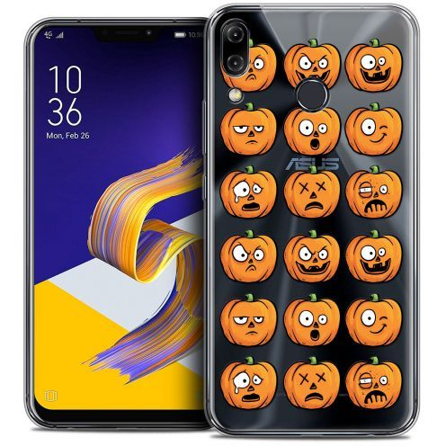 "Carcasa Crystal Gel Extra Fina Asus Zenfone 5z ZS620KL (6.2"") Halloween Cartoon Citrouille"