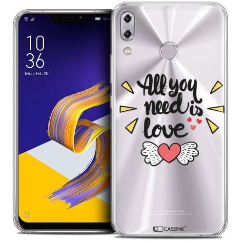 "Carcasa Crystal Gel Extra Fina Asus Zenfone 5 ZE620KL (6.2"") Love All U Need Is"