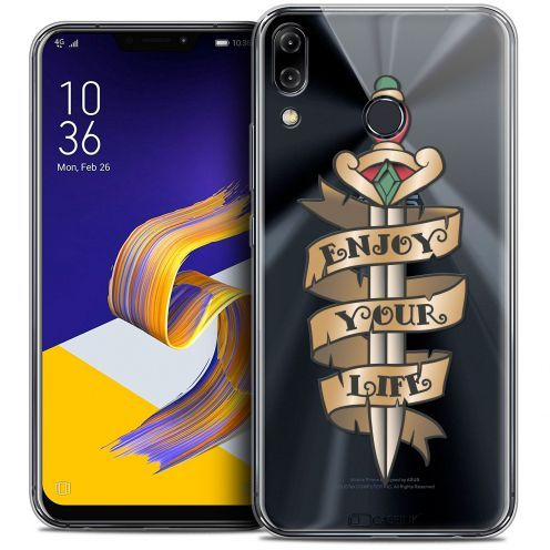 "Carcasa Crystal Gel Extra Fina Asus Zenfone 5 ZE620KL (6.2"") Tatoo Lover Enjoy Life"