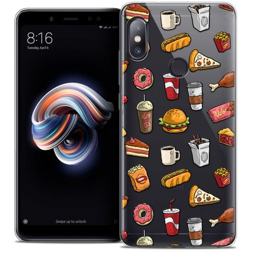 "Carcasa Crystal Gel Extra Fina Xiaomi Redmi Note 5 (5.99"") Foodie Fast Food"