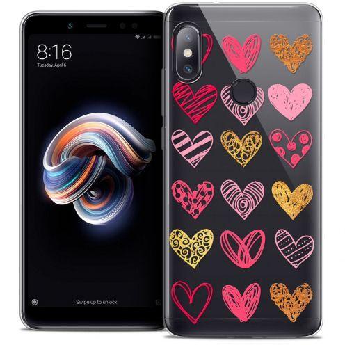 "Carcasa Crystal Gel Extra Fina Xiaomi Redmi Note 5 (5.99"") Sweetie Doodling Hearts"